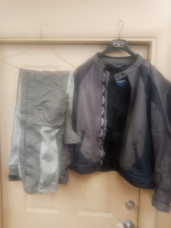 Triumph motorcycle jacket sz m and Joe rocket motorcycle pants size large