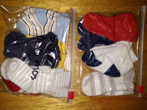 10 pairs Infant baby boy socks 0-6 mos months for Sale in Duncanville, TX