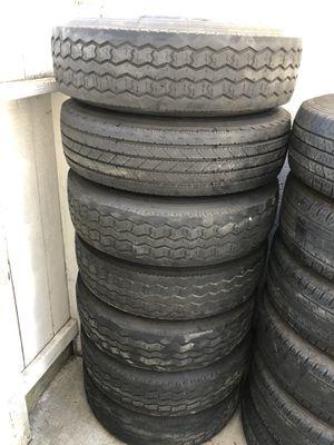 "PJ trailer wheels n tires 8x6.5 10ply tires 17"" wheels for Sale in Modesto, CA"