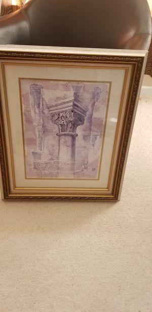 Roman/Greek column framed print for Sale in Denver, CO