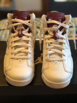 Jordan Retro 6 Maroon/white 6.5Y for Sale in Elgin, IL