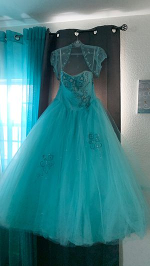 Beautiful Light blue Quinceanera Strapless ball gown for Sale in Orlando, FL