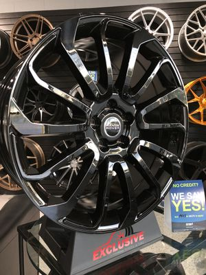 PRICE PER WHEEL 22X9.5 Ranger Rover wheels gloss black fits sport hse supercharged rims for Sale in Tempe, AZ