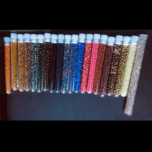 Richly Colored Seed Beads In Vials For Jewelry Making for Sale in Seattle, WA