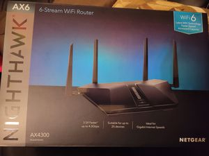 Netgear Nighthawk AX6 WiFi Router for Sale in Plantation, FL