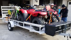 Trailer Utility 14x5 ft with cargo box for Sale in San Diego, CA