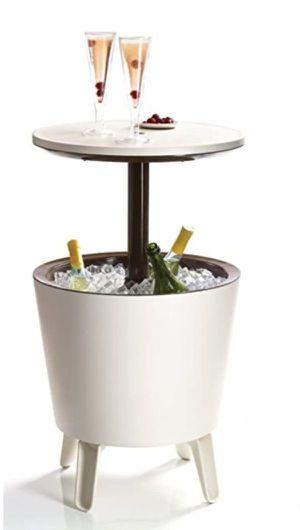 Keter Cool Bar Plastic Outdoor Patio Furniture Garden Ice Cooler Table Nevera Mesa de Patio - Cream Brown 17186745 for Sale in Miami, FL