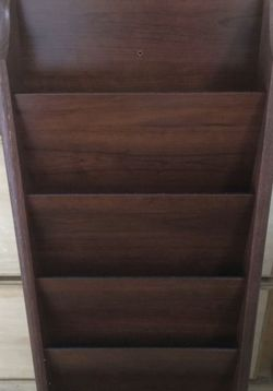 Wood 5 Pocket Magazine/Card Rack for Sale in Long Beach,  CA