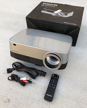 "(New in box) $120 PHOOTA 3D Home Theater Projector 4500 Lux, Ratio 5000:1, Full 1080P, 200"" Display (TV, USB, HDMI, HiFi) for Sale in Pico Rivera, CA"