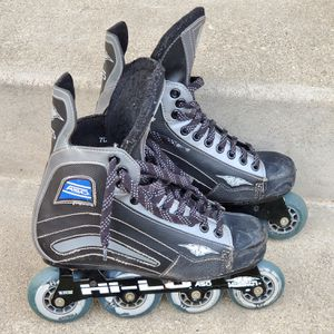 Mission A50 Adult Inline Hockey Skates Size 7 HiLo Roller Blades for Sale in Brookfield, IL