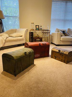 Three King's Lane Storage Trunks for Sale in Arlington, VA