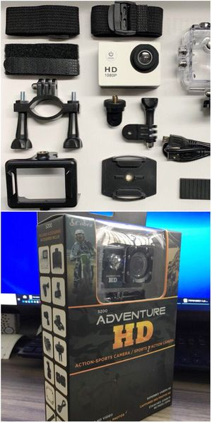 New in box Cobra Adventure HD sports generic gopro style camera cam 1080p water proof with lcd screen and accessories for Sale in Baldwin Park, CA