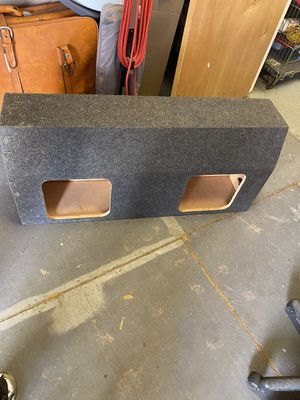 Empty Subwoofer box for (2) 12 inch squares subwoofers. for Sale in Glenn Dale, MD