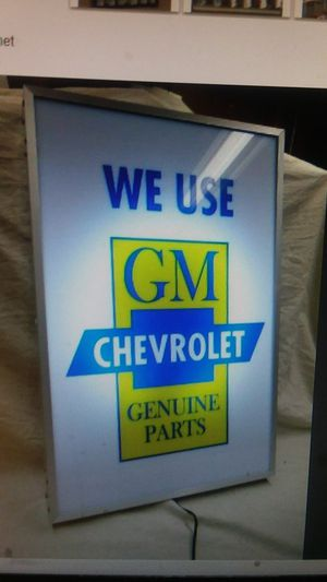 Gorgeous Genuline Chevrolet Parts Lighted Sign for Sale in Hemet, CA