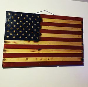 Handmade wooden American flags for Sale in Wendell, NC