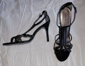 Nine West black dress sandals, size 9.5 for Sale in Chicago, IL