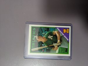 Topps Mark Mcgwire 1988 baseball card for Sale in Fremont, CA