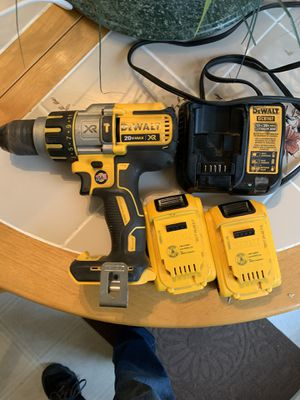 DeWalt hammer drill 2 battery's and charger for Sale in Middleborough, MA