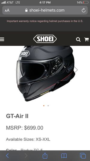 Shoei Large Helmet for Sale in Canonsburg, PA