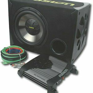 "Fusion - 12"" Single-Voice-Coil 4-Ohm Subwoofer with 450W Amplifier for Sale in Martinsburg, WV"