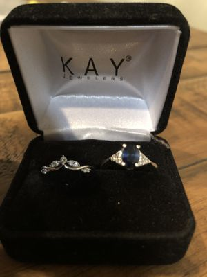 Kay jewelry white gold 14k Real 💍 engagement ring and wedding ring for Sale in Glendale, AZ