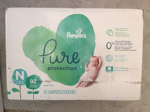 New Pampers Pure NB 92 Ct for Sale in Huntington Beach, CA