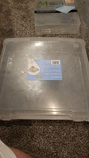 3 plastic storage containers for bills/papers for Sale in Chula Vista, CA