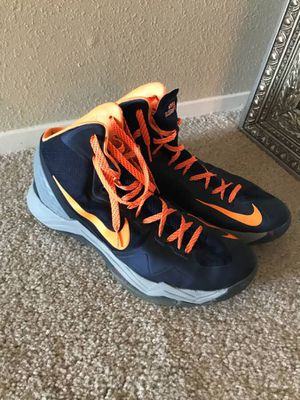 Men's Pre-Owned Nike Hyper Disruptor High Top Basketball Shoes Size 13 Blue Orange and Gray for Sale in Kirkland, WA