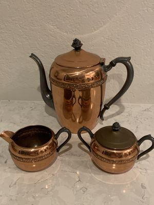 FB Rogers Silver Co Copper on silver coffee set for Sale in Yorba Linda, CA