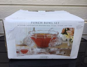 New Punch Bowl Set ~ Check out my Page 😊 for Sale in Fresno, CA