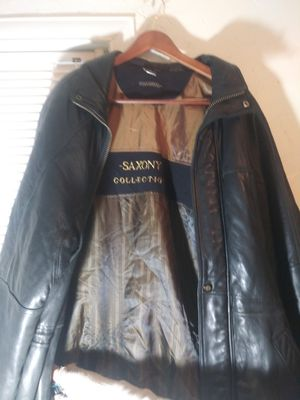 Saxony mens leather jacket for Sale in Salt Lake City, UT