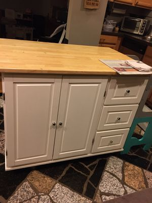 Kitchen island cart with drawers and cabinet for Sale in Minneapolis, MN