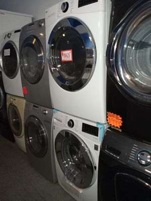 NEW SCRATCH AND DENT LG FRONT LOAD WASHER AND DRYER SET WITH WARRANTY for Sale in Baltimore, MD