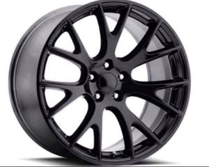 """22"""" DODGE HELLCAT Style Rims Package Complete New Replica Wheels & Tires ANY FINISH Machine Black • Gloss Black • Matte Black 🔥🔥 Rims & Tires Only for Sale in La Habra Heights, CA"""
