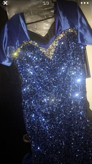 Royal blue and silver prom dress for Sale in Clifton, NJ