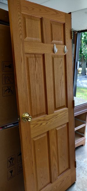 Solid 6 panel oak door for Sale in Bloomingdale, IL