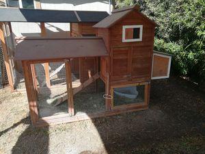 2 Gentle Female Rabbits, Rabbit Hutch, Small Cage, 2 Rabbit Toilets, Rabbit Food for Sale in Anaheim, CA