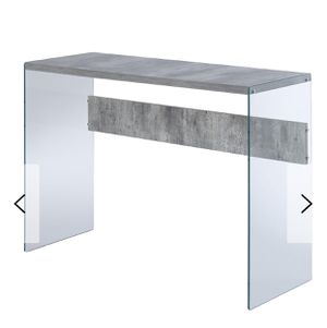 Wayfair Console Table [Gray & Glass] for Sale in Annandale, VA