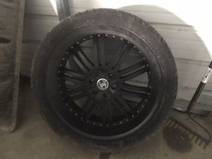 """24 """" rims and tires for Sale in McDonald, PA"""