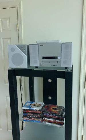 Entertainment Center (includes projector w/ speaker, screen, & DVDs) for Sale in Silver Spring, MD