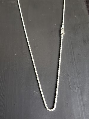 Sterling Silver Chain 20 inches 2mm for Sale in Phoenix, AZ