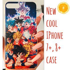 New cool iphone 7+ or iphone 8+ PLUS case slim fit plastic sleeve case men's guys Goku dragon ball z super saiyan anime hypebeast hype swag for Sale in San Bernardino, CA
