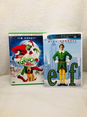 Christmas Movie DVD's: The Grinch & Elf for Sale in Palm Beach Gardens, FL