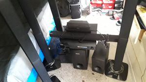 A Samsung surround system what a couple of Sony speakers and a Bluetooth Samsung speaker for Sale in Philadelphia, PA