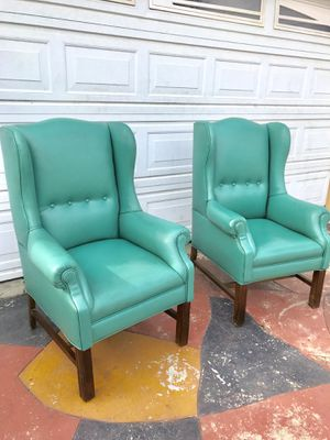 Vintage style wingback chairs for Sale in Santa Ana, CA