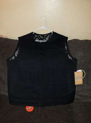 Men's NWT Motorcycle Canvas Vest Size XL for Sale in San Diego, CA