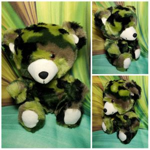 "8"" Build a Bear Green Camo Baby Teddy SmallFry Buddies Plush Camouflage Army for Sale in Dale, TX"