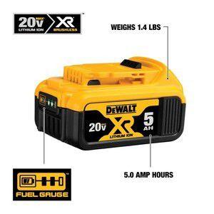 DEWALT XR 20-Volt Max 5-Amp-Hours Lithium Power Tool Battery for Sale in Fairfax, VA