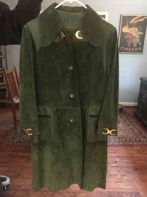 Vintage Gucci Leather-Suede Coat for Sale in Takoma Park, MD