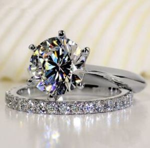 New 18 k White Gold wedding ring set engagement ring for Sale for sale  New York, NY